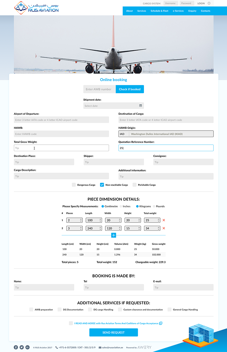 Rus aviation booking